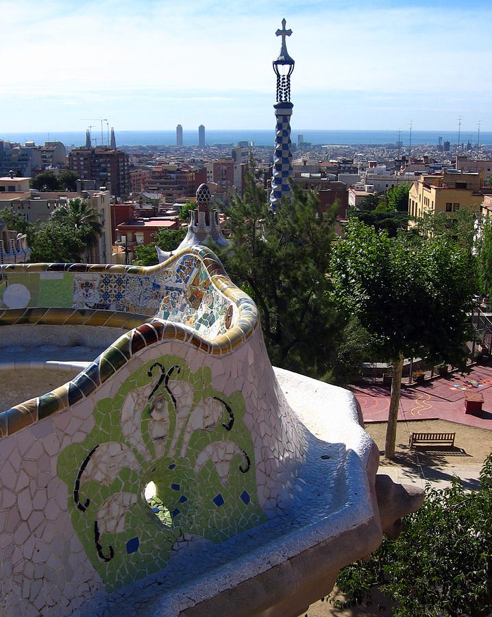 Barcelona Photograph - Parc Guell by Lindsey Orlando