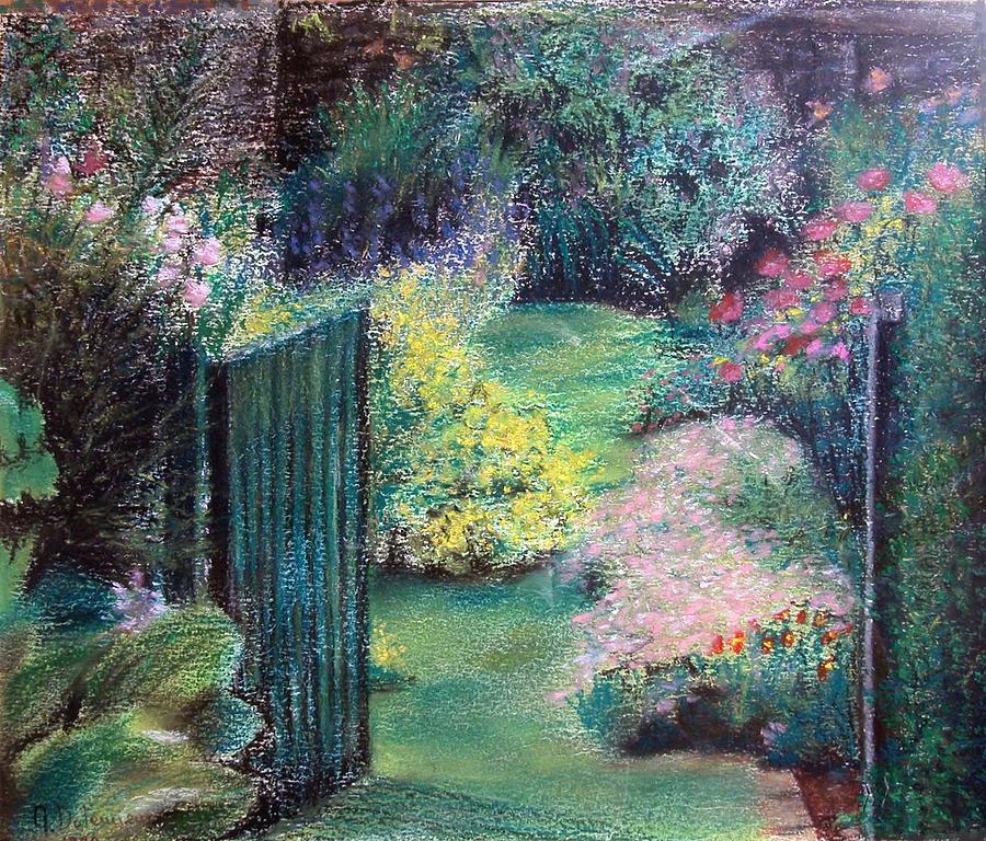 Landscape Painting - Parc by Muriel Dolemieux
