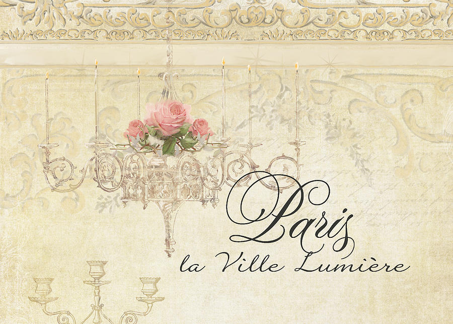 painting plaster wallsParchment Paris  City Of Light Rose Chandelier W Plaster Walls