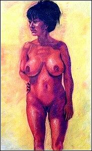 Figure Study Painting - Pardon Me What Are You Thinking by Charles Peck
