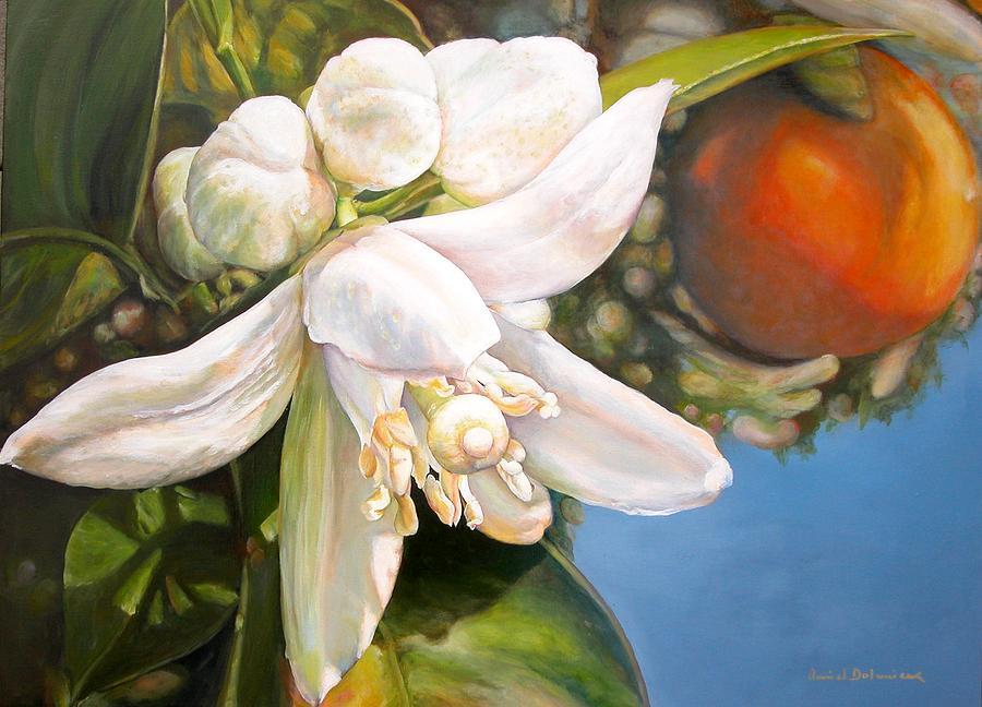 Flower Painting - Parfum D by Muriel Dolemieux