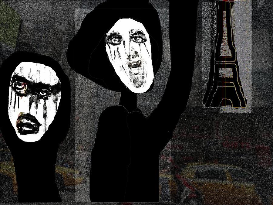 Paris After Dark Digital Art by Rc Rcd