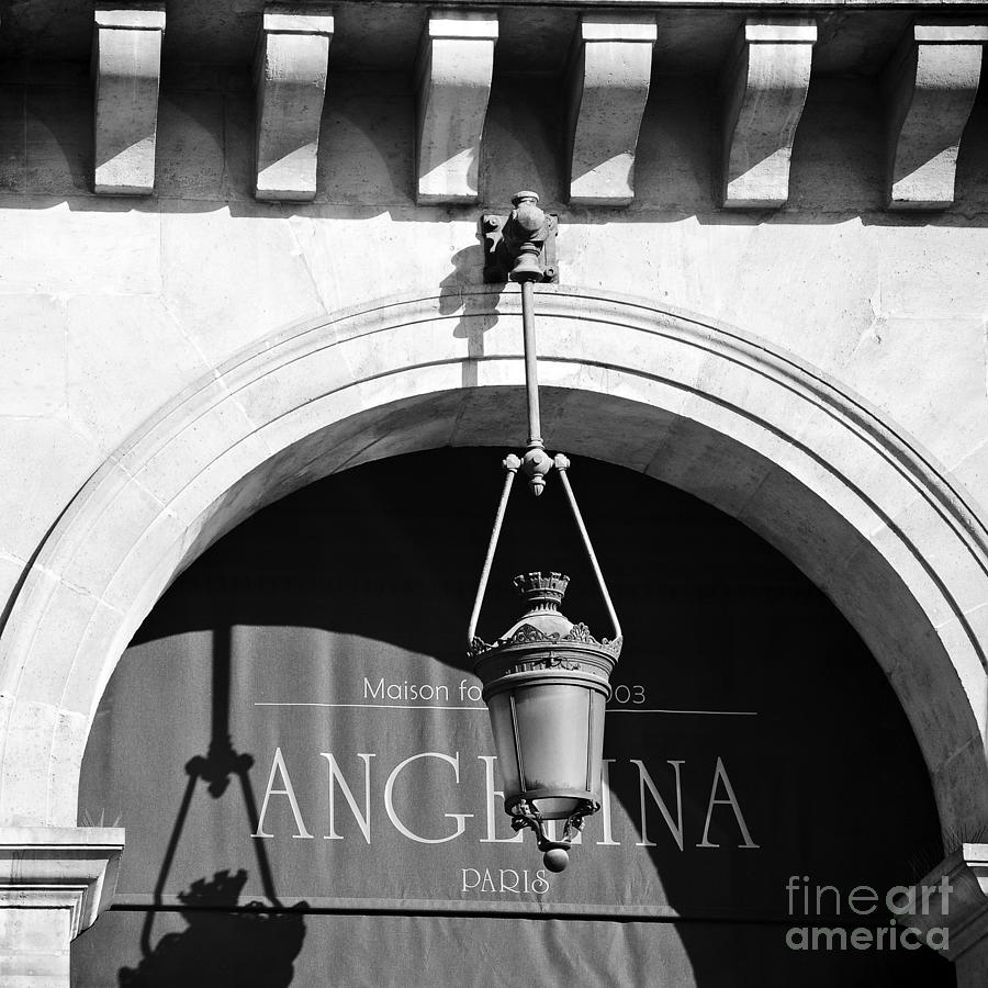 Paris Angelina Cafe Bistro Coffee House Black And White Paris Decor