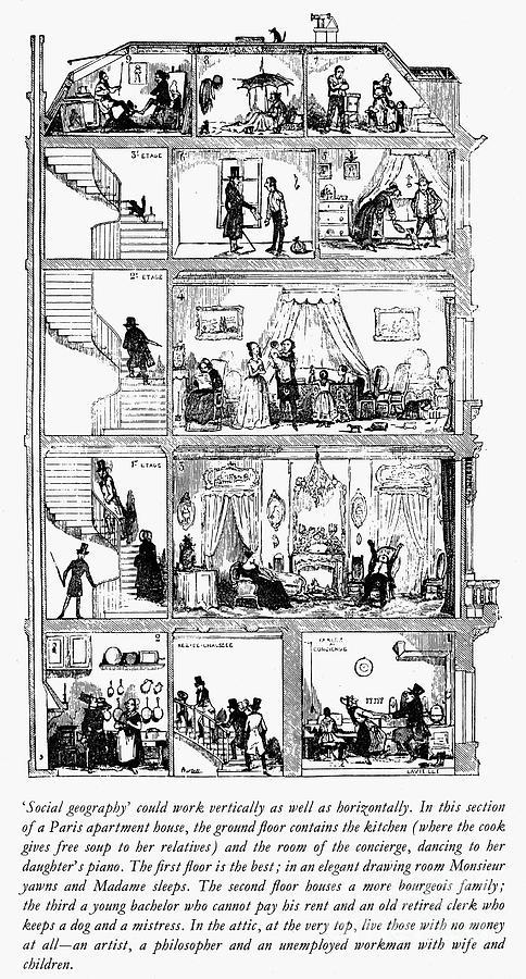 1852 Photograph - Paris: Apartment House by Granger