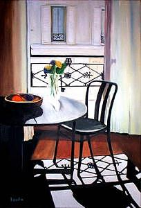 Paris Apartment Painting by Jude Rouslin