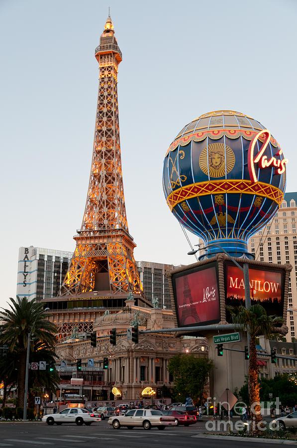 Las Vegas Photograph - Paris At Dusk by Andy Smy