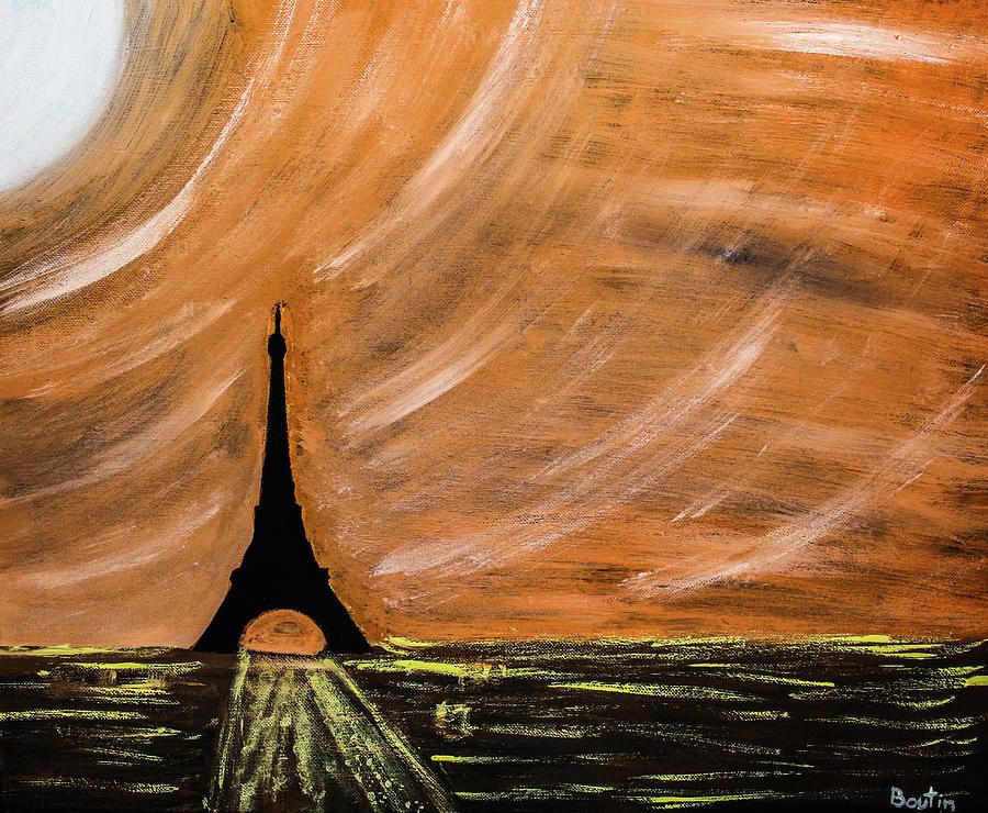 Paris Painting - Paris At Night by Julien Boutin