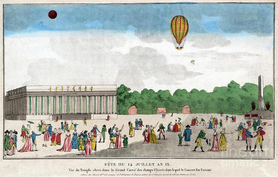 1801 Photograph - Paris: Bastille Day, C1801 by Granger