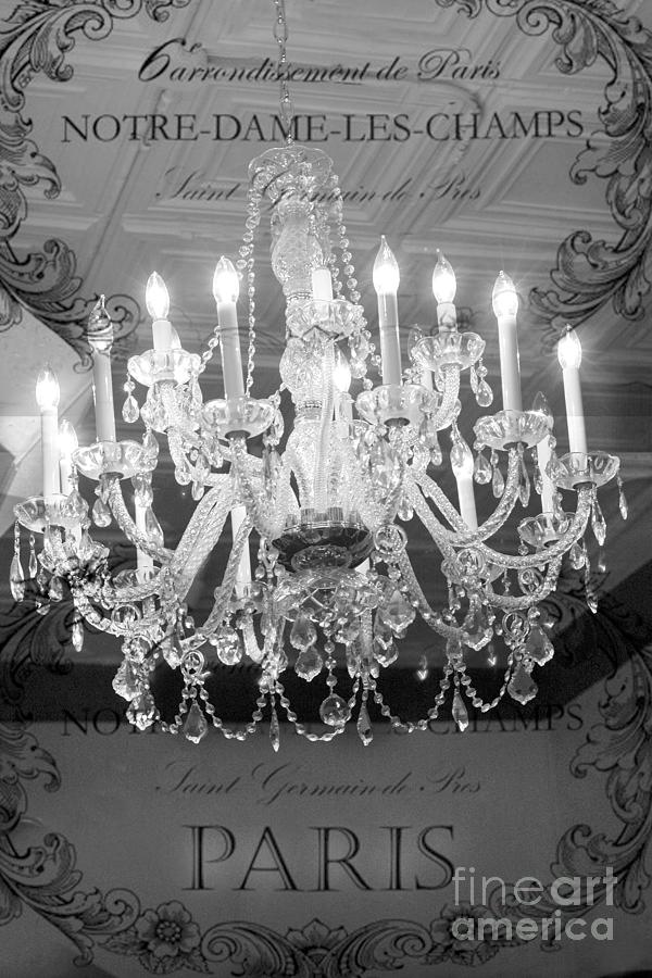 Paris black and white crystal chandeliers french parisian black paris black and white crystal chandeliers french parisian black white crystal chandelier art photograph by kathy fornal aloadofball Image collections