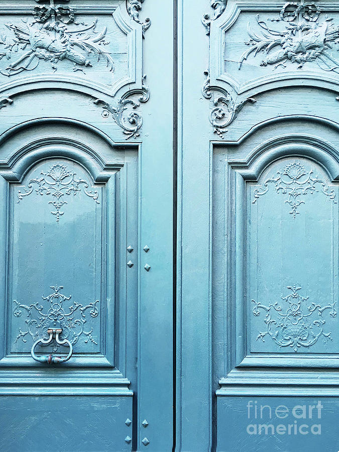French Doors Photograph - Paris Blue Doors - Parisian Door Prints - Paris Dreamy Blue Door & Paris Blue Doors - Parisian Door Prints - Paris Dreamy Blue Door ... pezcame.com