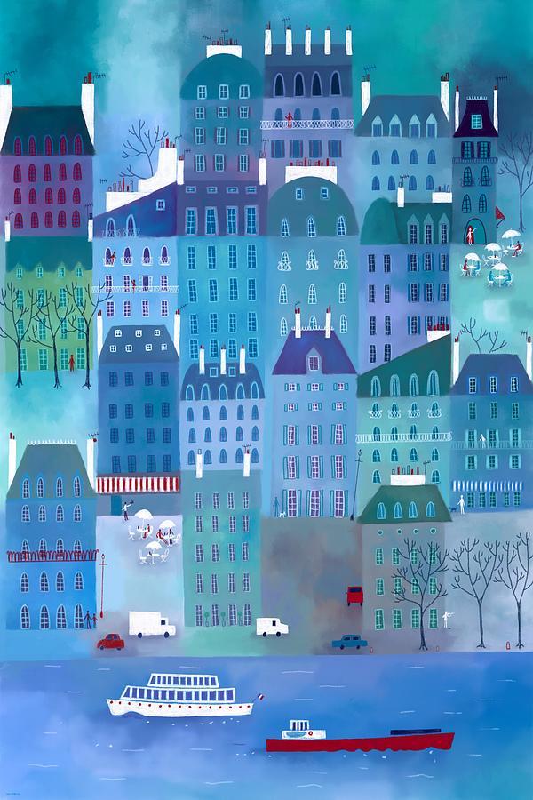 Paris Painting - Paris Blues by Nic Squirrell