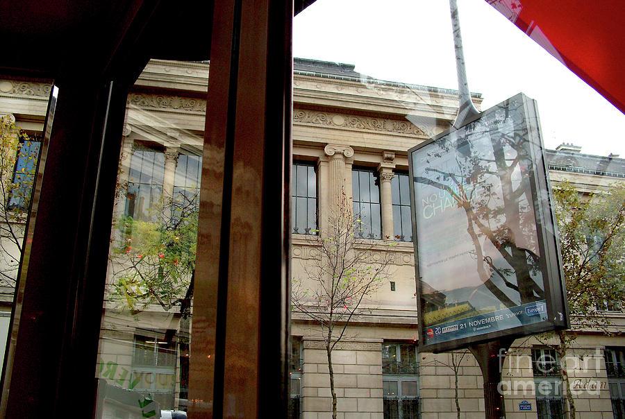 Paris Photograph - Paris Cafe Views Reflections by Felipe Adan Lerma