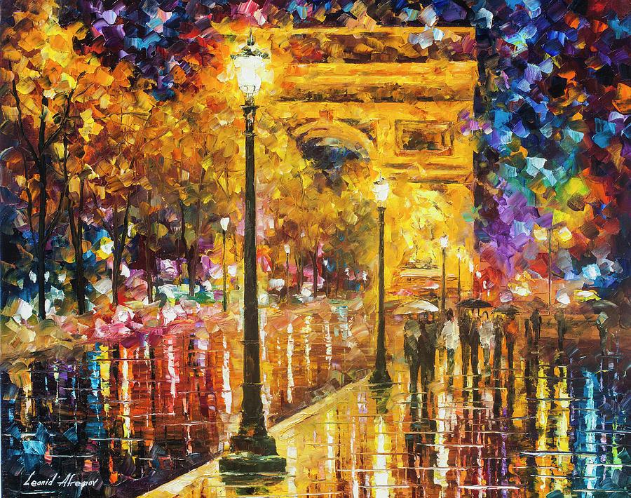 Painting Painting - Paris - Campos Elises by Leonid Afremov