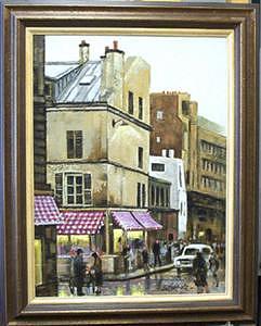 Paris Street Scene Painting - Paris Chestnut Vendor- Original Oil On Panel by Larry Wetherholt