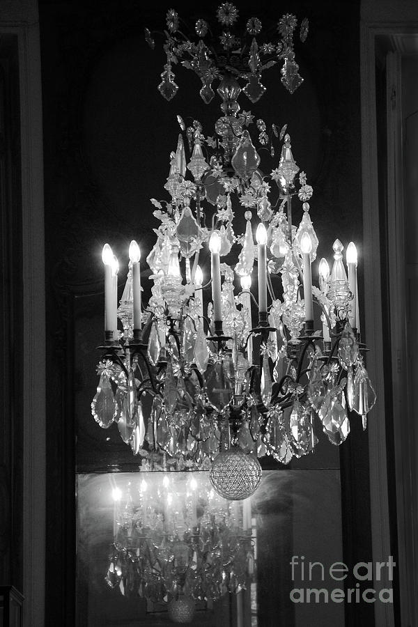 Crystal chandelier rodin museum paris black white crystal paris crystal chandelier rodin museum paris black white crystal chandelier wall decor photograph by kathy fornal aloadofball Image collections