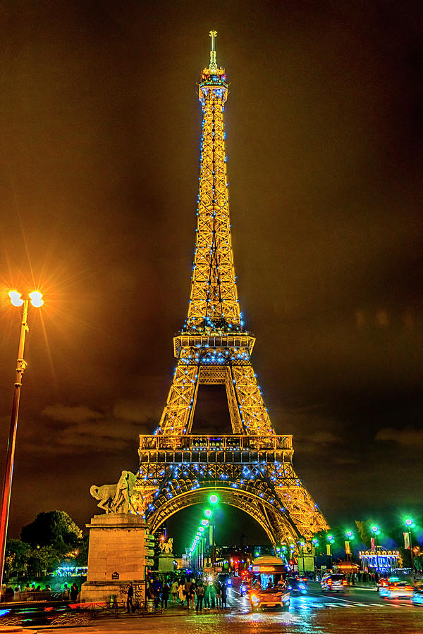 Paris France Eiffel Tower At Night 7k Dsc2063 09102017 Photograph By Greg Kluempers