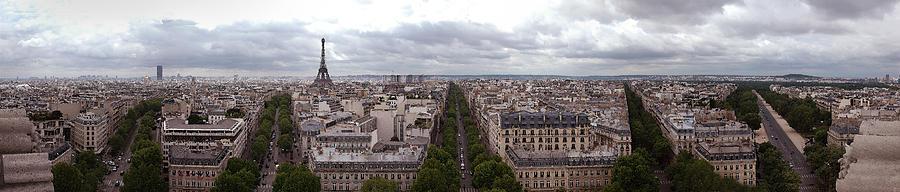 Paris Photograph - Paris From The Arch De Triumph by Robert Ponzoni