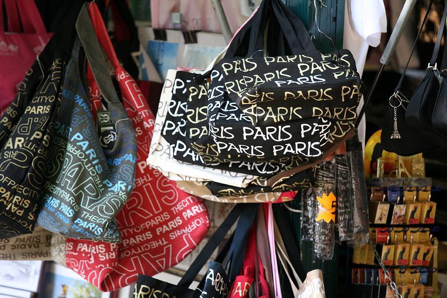 Paris Photograph - Paris Handbags Assorted Colors  by Chuck Kuhn