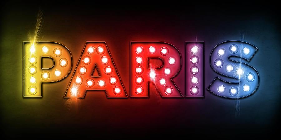 Paris Digital Art - Paris In Lights by Michael Tompsett