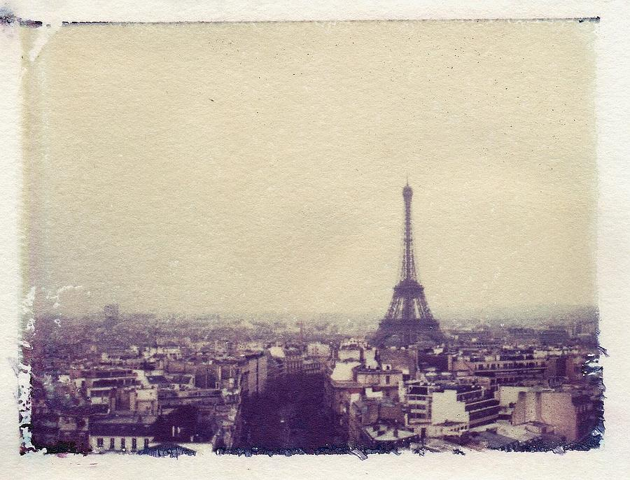 Polaroid Photograph - Paris by Jane Linders