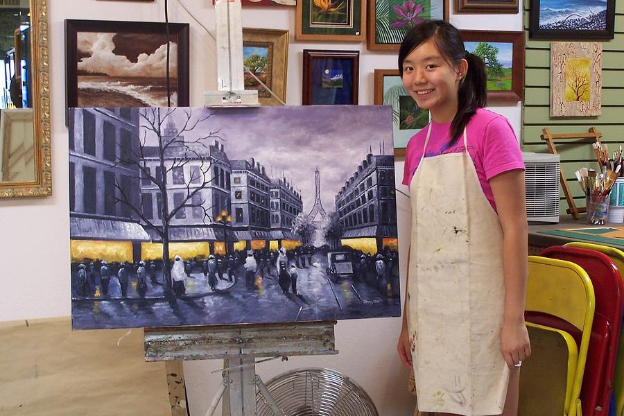 Paris Painting by Jenny Zhu