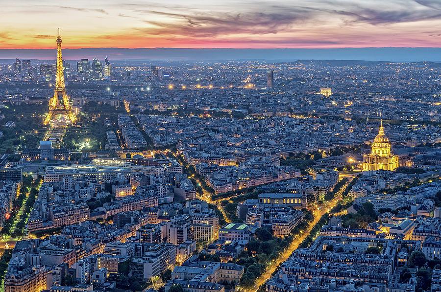 Paris Lights from Tour Montparnasse by Gary Karlsen