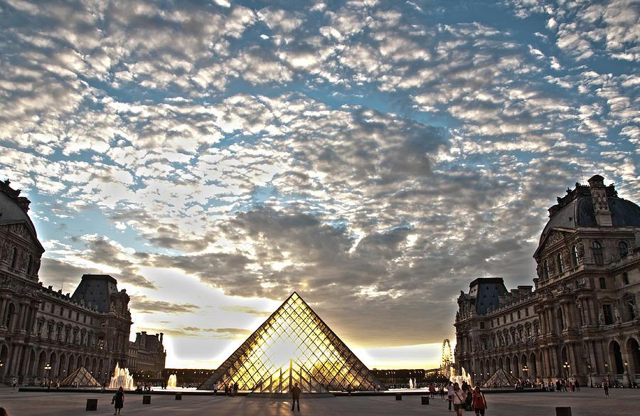 Paris Louvre Museum Photograph - Paris Louvre by Freepassenger By Ozzy CG