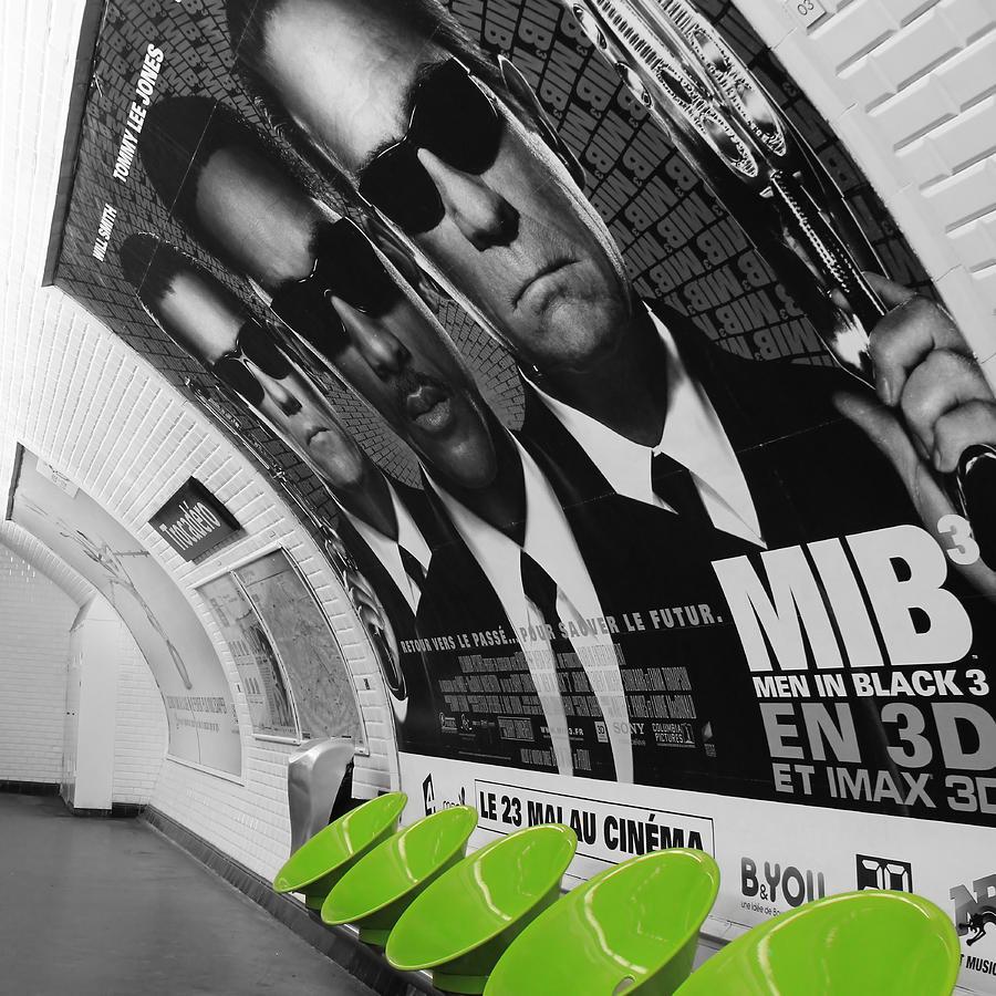 Paris Photograph - Paris Metro 4 by Andrew Fare