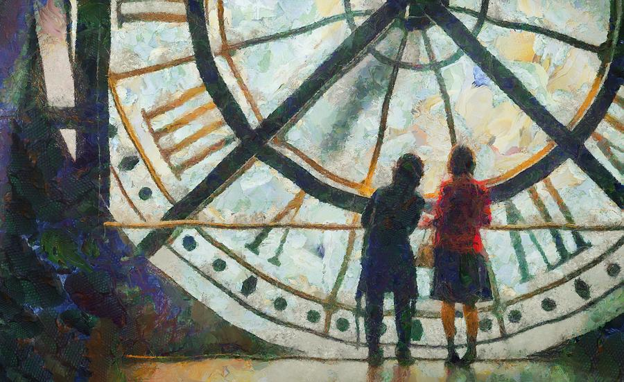Paris Musee D Orsay Clock Painting By Aaron Stokes