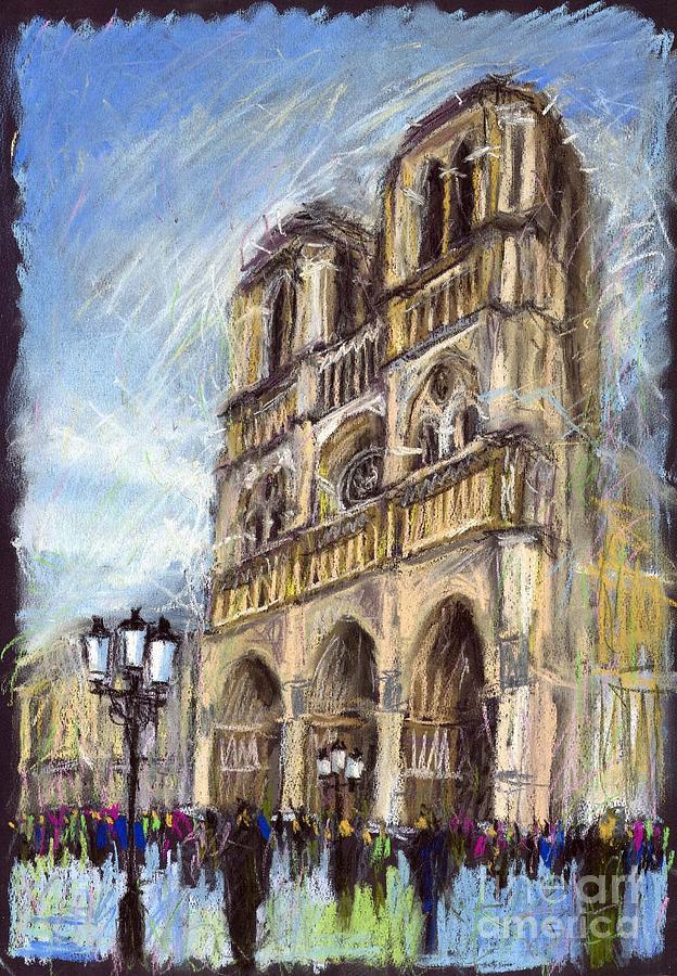 Cityscape Pastel - Paris Notre-dame De Paris by Yuriy Shevchuk