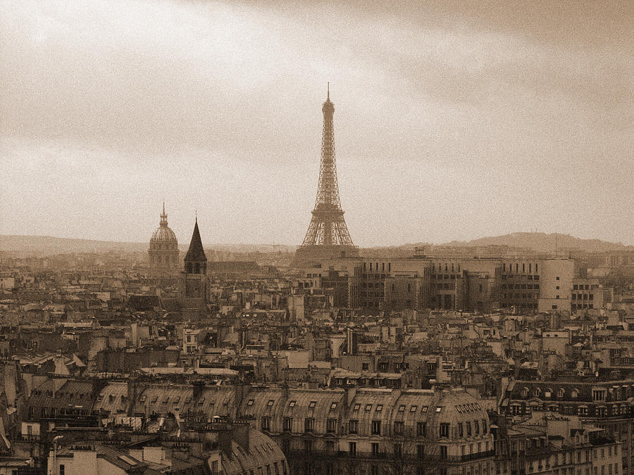 Paris Photograph - Paris Of Yesteryear by Mark Currier