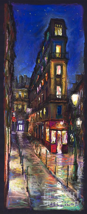 Landscape Painting - Paris Old Street by Yuriy  Shevchuk