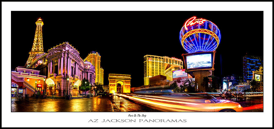 Las Vegas Photograph - Paris On The Strip Poster Print by Az Jackson