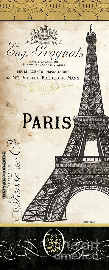 Paris Painting - Paris, Ooh La La 1 by Debbie DeWitt