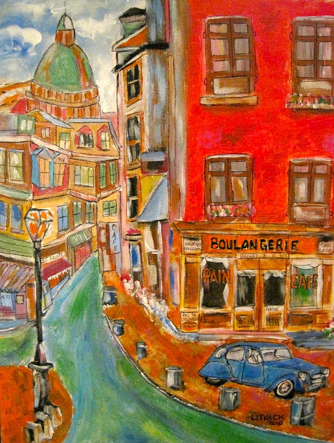 Paris Or Montreal Painting by Michael Litvack