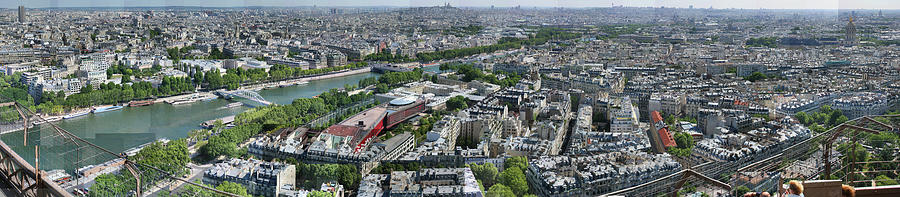 Paris Photograph - Paris Panorama From The Eiffel Tower by Stephen Farley
