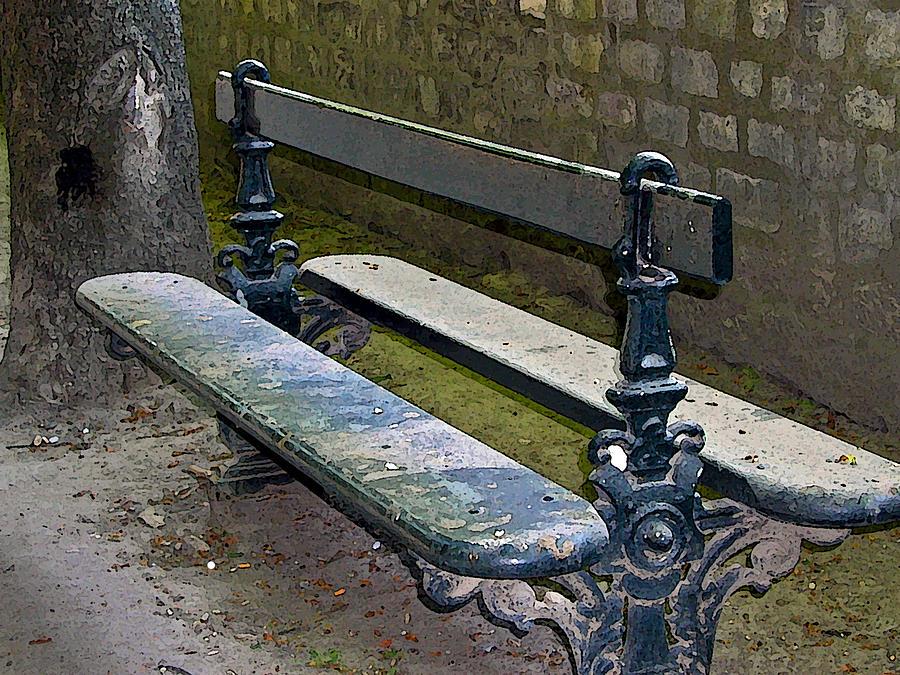 Paris Park Bench Photograph By Jean Hall