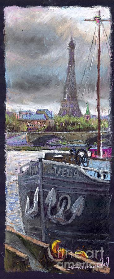 Pastel Painting - Paris Pont Alexandre III by Yuriy Shevchuk