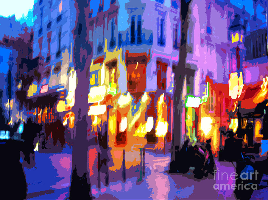 Paris Photograph - Paris Quartier Latin 02 by Yuriy  Shevchuk