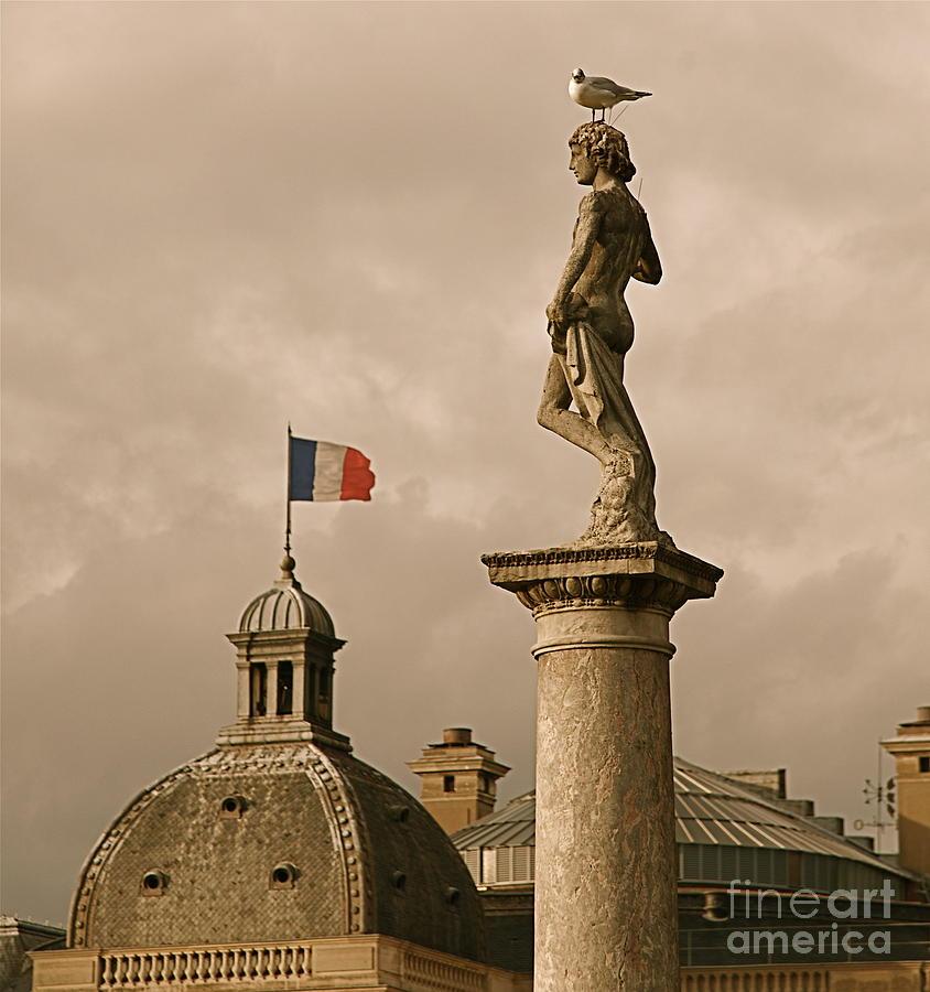 Paris Photograph - Paris Rooftops II by Louise Fahy
