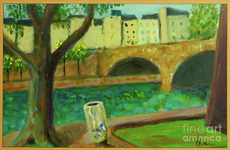 Landscape Painting - Paris Rubbish by Paul McKey