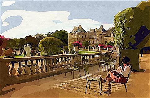 Landscape Painting - Paris Sitting 2008 by Anthony Renardo Flake