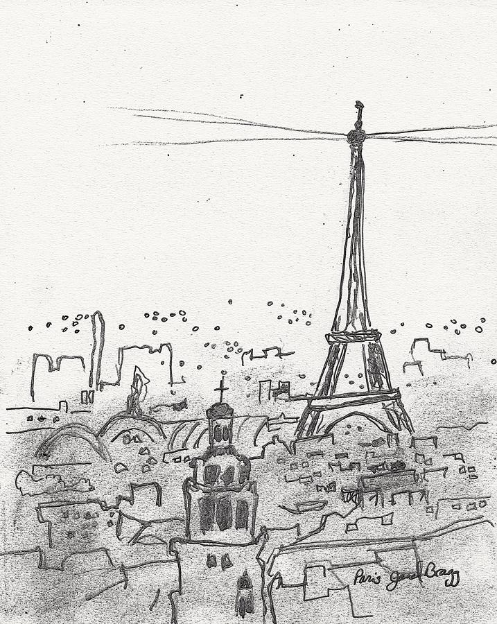 Paris Sketch Drawing By Janel Bragg