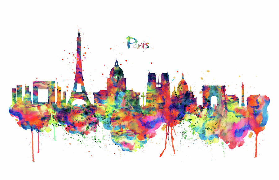 Paris skyline 2 mixed media by marian voicu paris mixed media paris skyline 2 by marian voicu voltagebd Choice Image