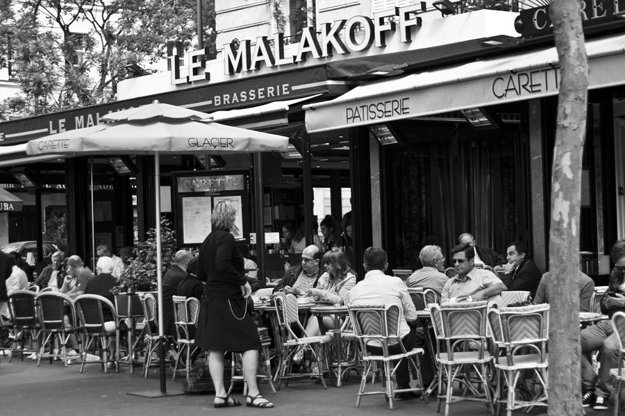 Bar Photograph - Paris Street Cafe - Le Malakoff by Georgia Fowler