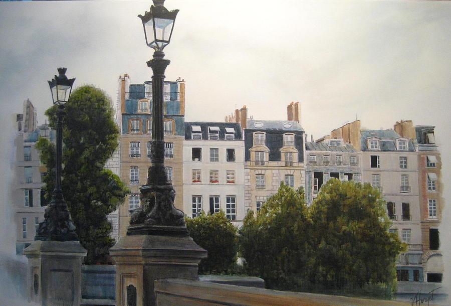 Paris Painting - Paris Stroll by Victoria Heryet