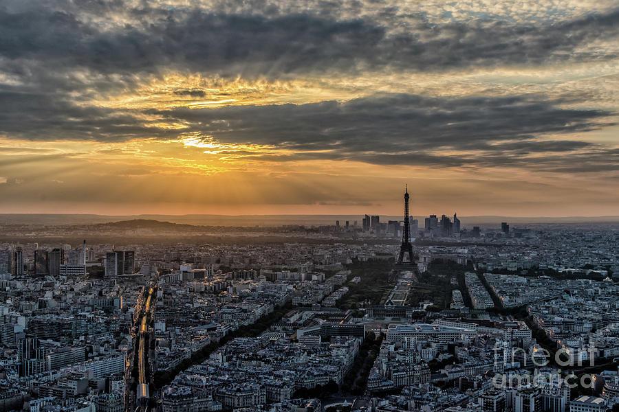 Sunset Photograph - Paris Sunset by Myroslav Dvornyk