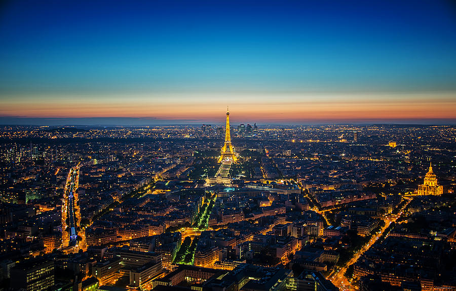 Paris Photograph - Paris Sunset by Ryan Wyckoff