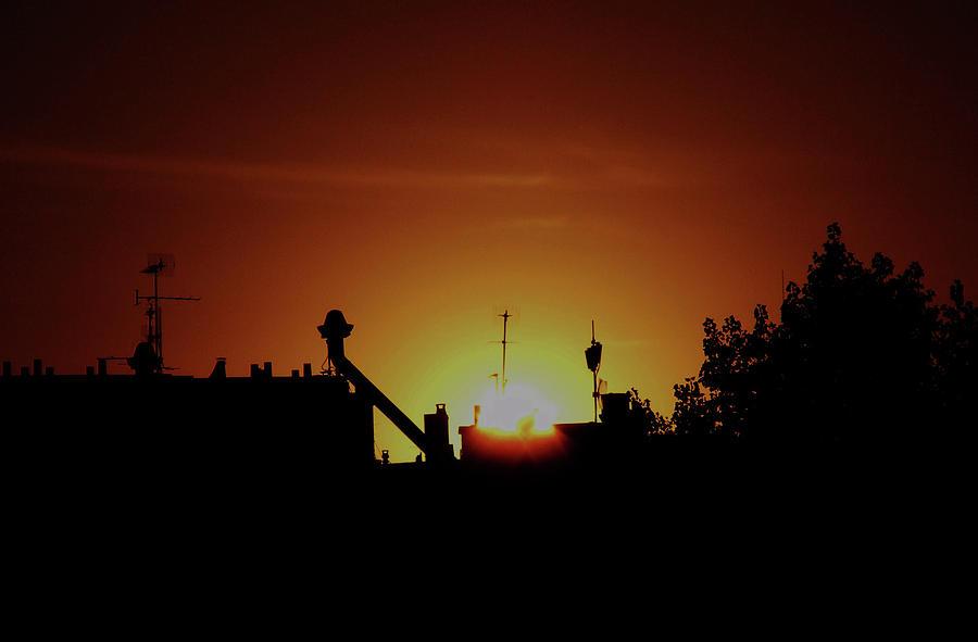 Sunset Photograph - Paris Sunset by Wilma Stout