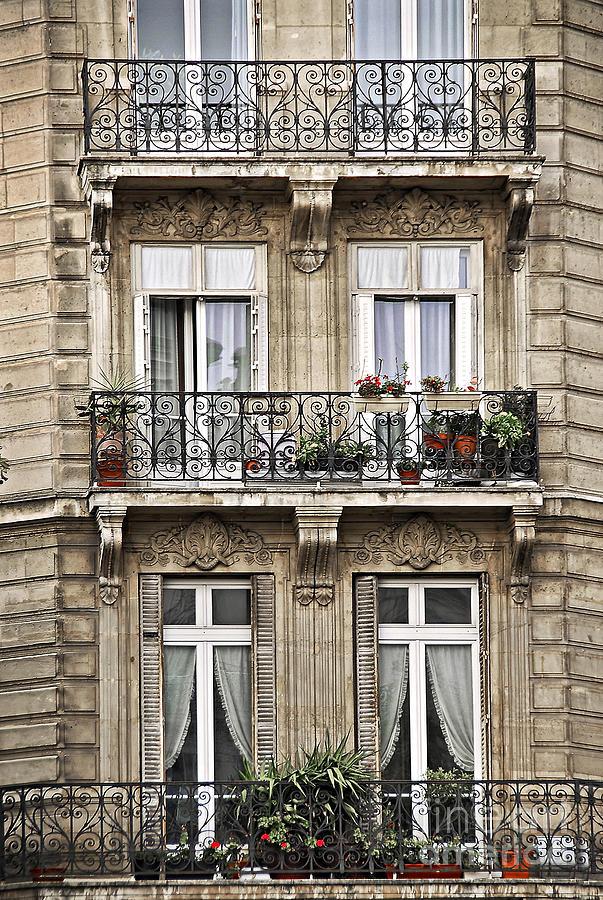 Building Photograph - Paris Windows by Elena Elisseeva